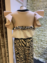 Load image into Gallery viewer, Love Zebra - Nude Frill Top No Sleeves