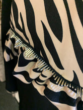 Load image into Gallery viewer, Love Zebra - Black Frill Top