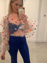 Load image into Gallery viewer, Floral Tulle Top