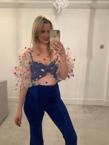 Floral Tulle Top