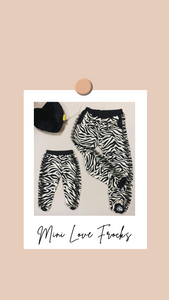 Love Zebra - Mini LF - Zebra Bottoms