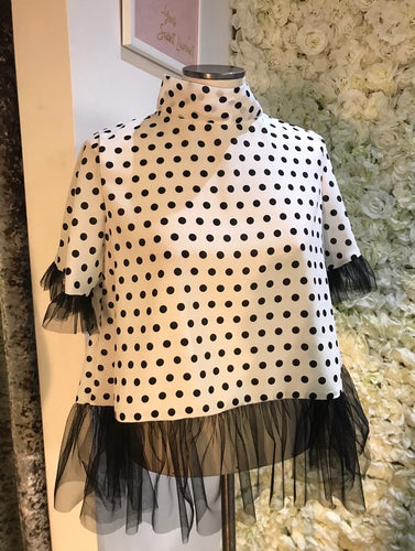 Polka Dot Tulle Top