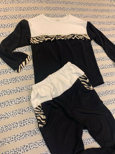Black & Ivory Zebra Bottoms