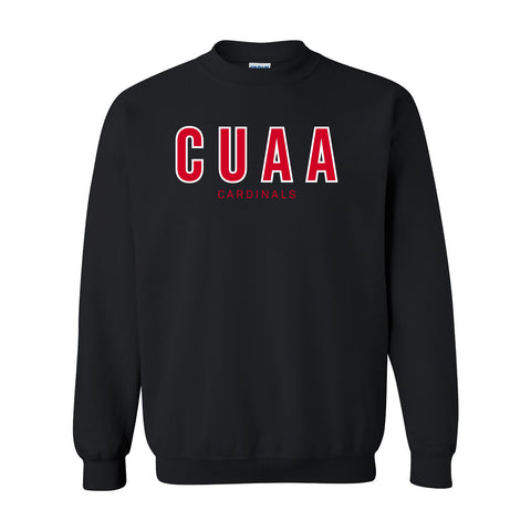 CUAA Cardinals Crewneck Sweatshirt - Black