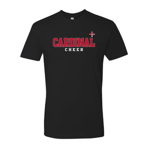 Cardinal Cross Cheer T-Shirt - Black