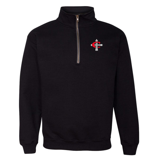 Concordia C Cross Quarter Zip - Black