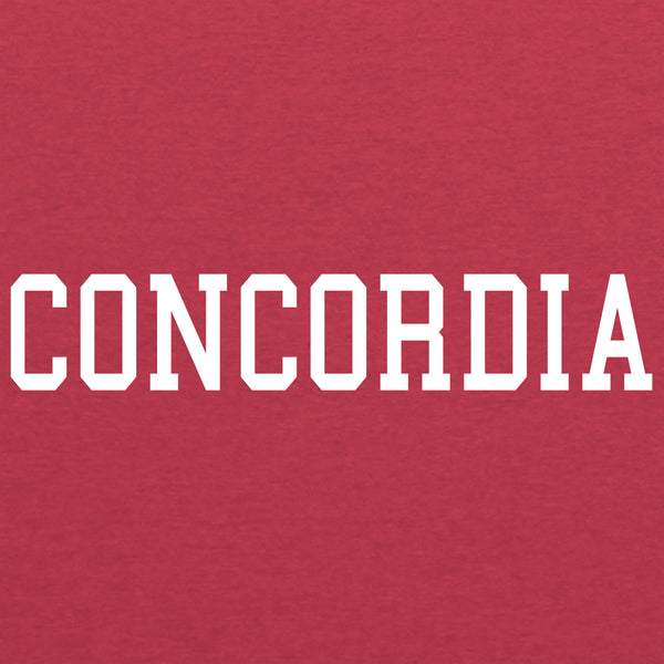 Concordia Block Basic Triblend T-Shirt - Vintage Red