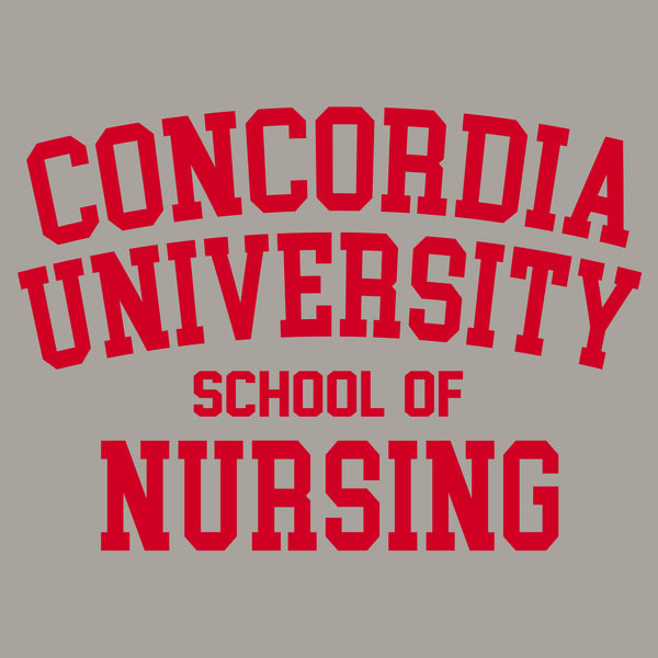 Concordia School of Nursing T-shirt - Light Grey