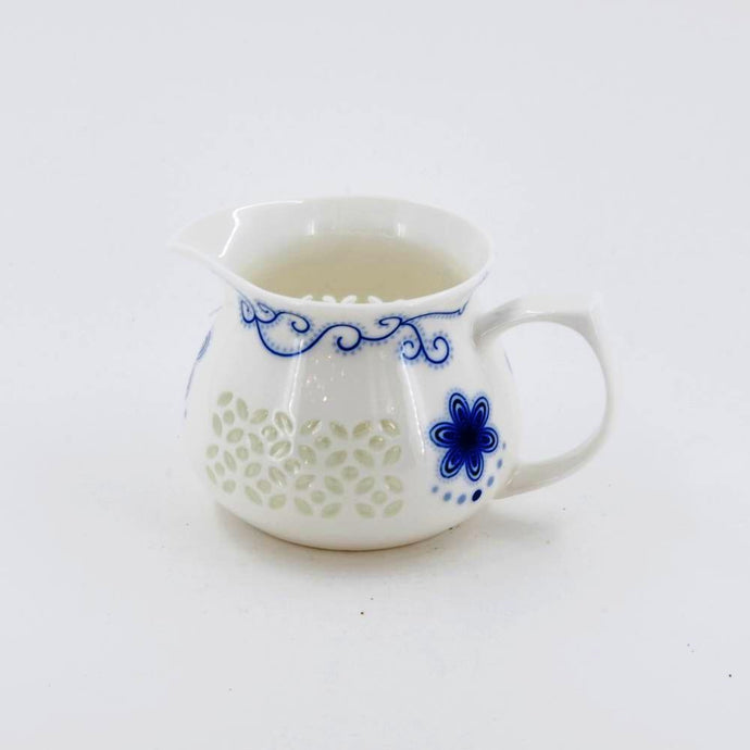 Porcelain Blue And White Rice Grain Fair Cup Pitcher