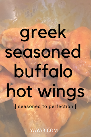 GREEK SEASONED BUFFALO HOT WINGS