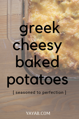 greek  cheesy baked potatoes