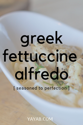alfredo chicken greek style