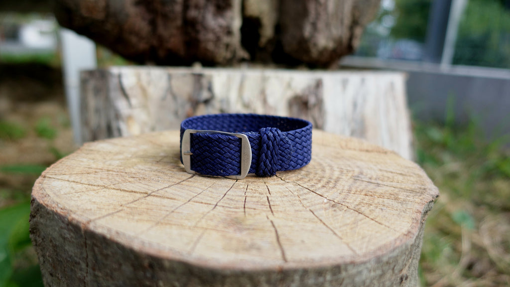Clover Straps braided strap - NAVY BLUE