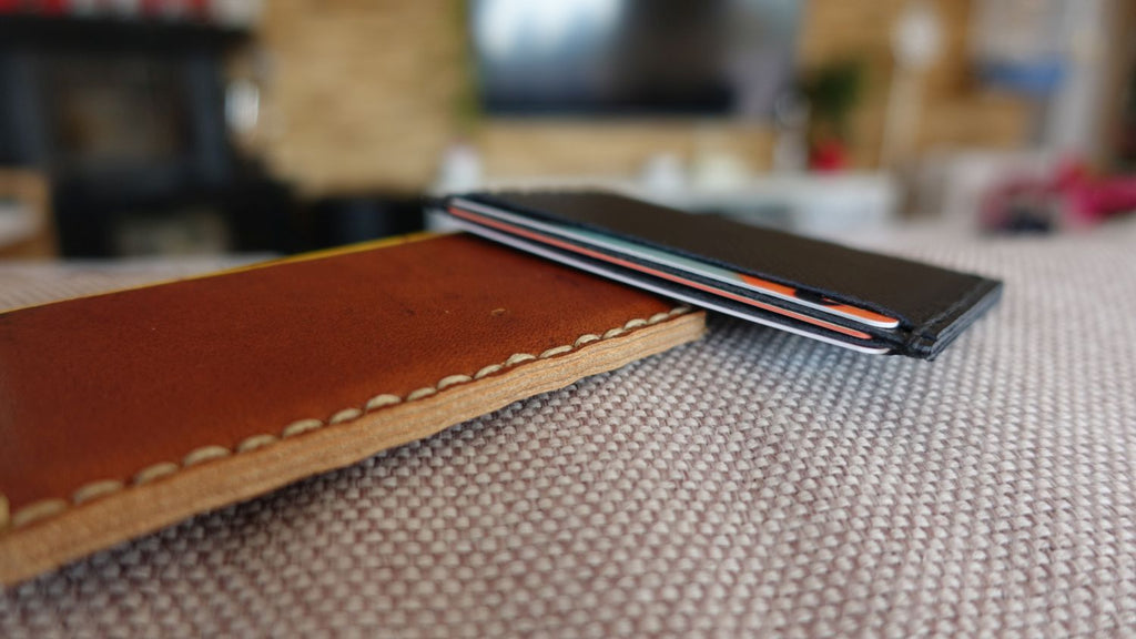 Simple leather card sleeves