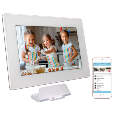 PhotoSpring 10in Digital Photo Frame White - Girls Baking