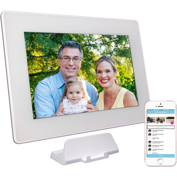 "PhotoSpring 10 - 10.1"" WiFi Digital Photo Frame & Album - Touchscreen, Battery, 1280x800 IPS Screen"