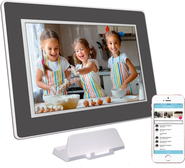 "PhotoSpring 10 - 10.1"" Wi-Fi Digital Photo Frame & Album - Touchscreen, Battery, 1280x800 IPS Display"