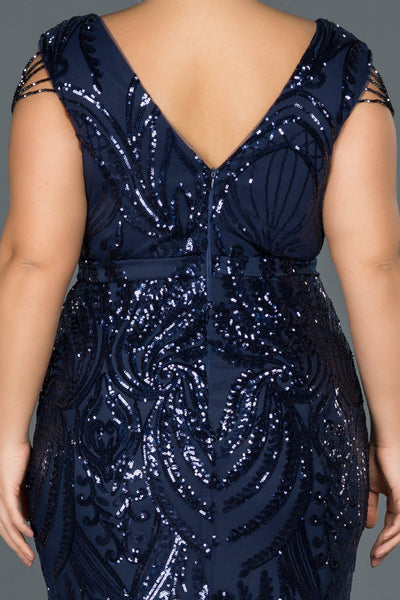 Navy Plus Size - Dindress