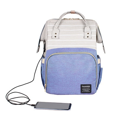 Baby Diaper Bag With USB Interface
