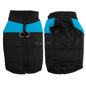 Quilted Padded Waterproof Dog Vest.  Warm Winter Dog Coat & Puppy Jackets
