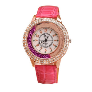 Rhinestone Watch luxury Leather brand women's Watches