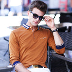 Men's Polo Long Sleeve Golf Shirts. Men's Casual Slim Fit Polo's