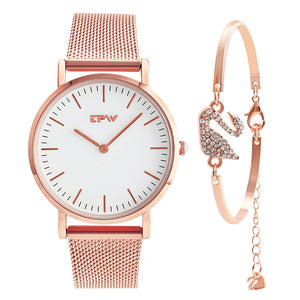 Ultra thin simple women watch