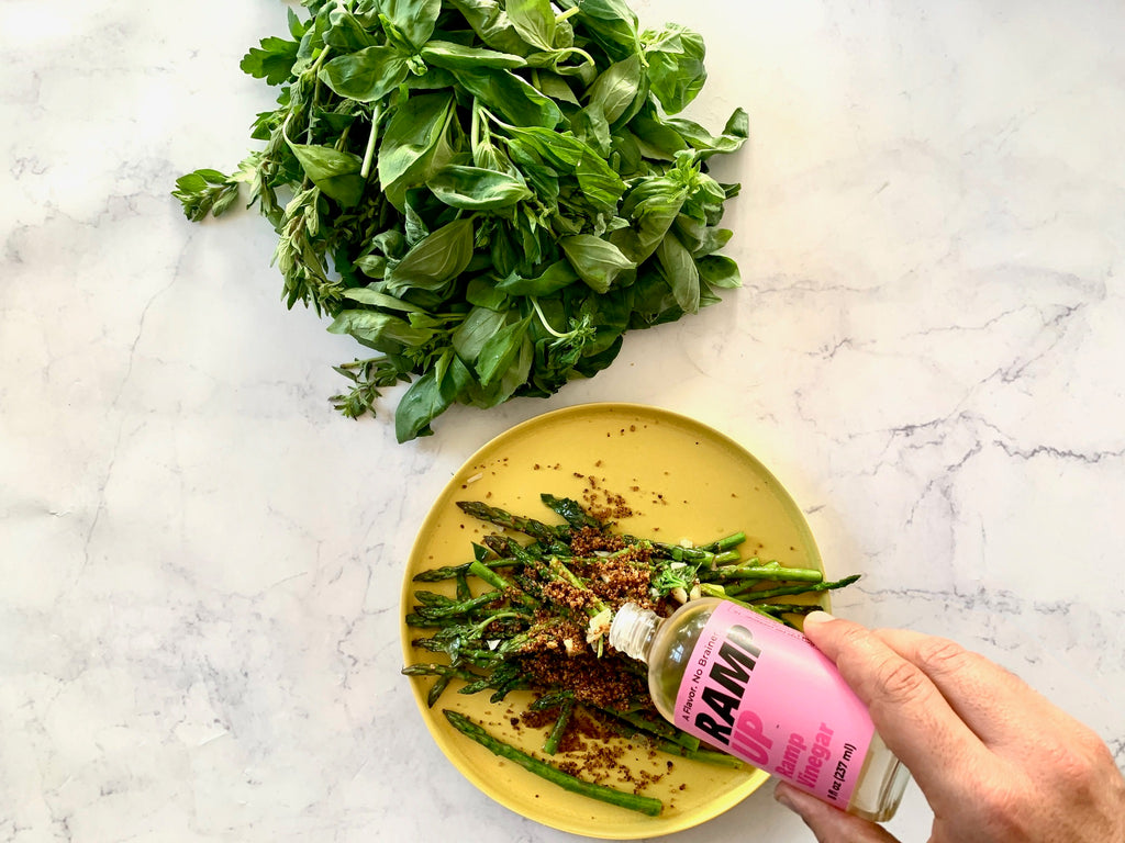 VIDEO: Spring Asparagus with Ramp Up Ramp Vinegar