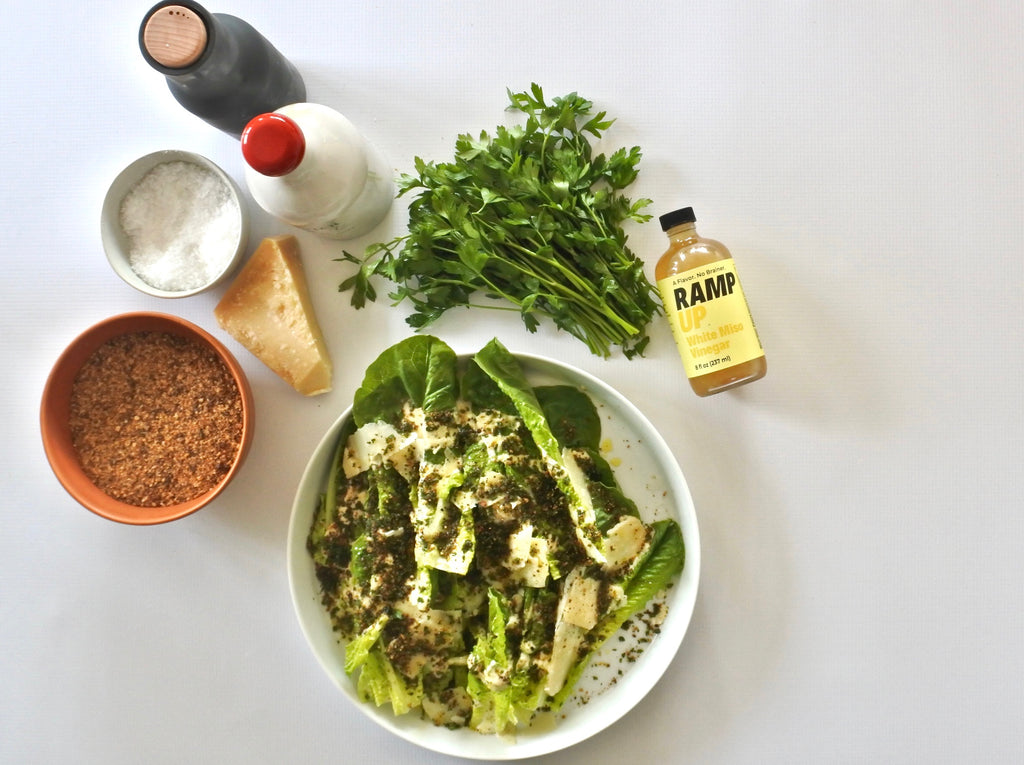 VIDEO: Caesar Salad with White Miso Vinegar