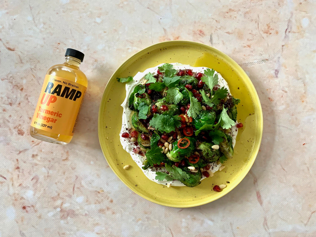 VIDEO: Thanksgiving Brussels Sprouts with Ramp Up Turmeric Vinegar