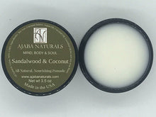 All Natural Sandalwood & Coconut Pomade