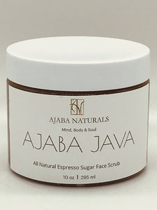 AJABA JAVA All Natural Espresso Sugar Face Scrub