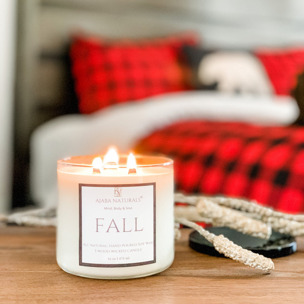 Fall Handcrafted Soy Wax Candle Candle AJABA NATURALS™