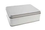 1000ml Silver Removable Lid Storage Tin