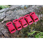 10mm Paracord Buckles - Dark Red