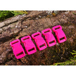 10mm Paracord Buckles - Hot Pink