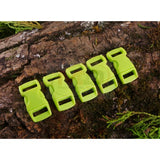 10mm Paracord Buckles - Lime Green