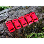 10mm Paracord Buckles - Red