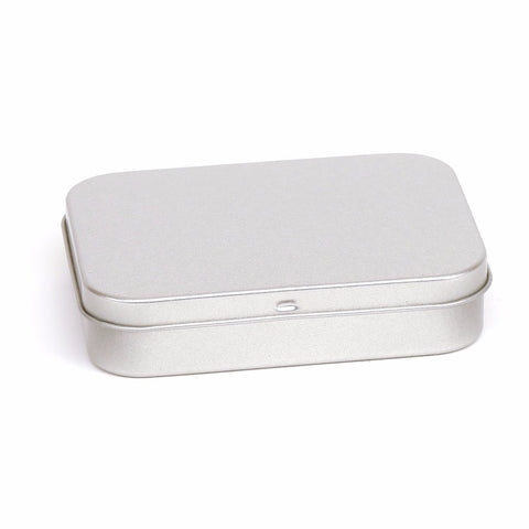 150ml Silver Hinged Storage Tin