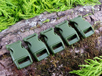 15mm Paracord Buckles Army Green