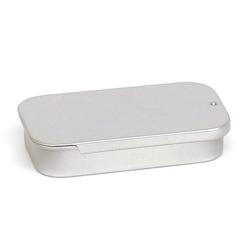 20ml Silver Sliding Lid Storage Tin