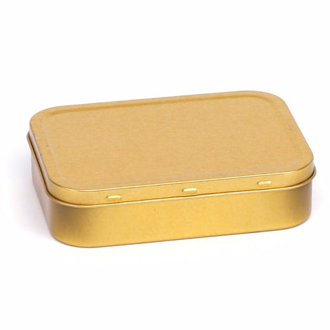 2oz Gold Tobacco Tin With Rubber Seals
