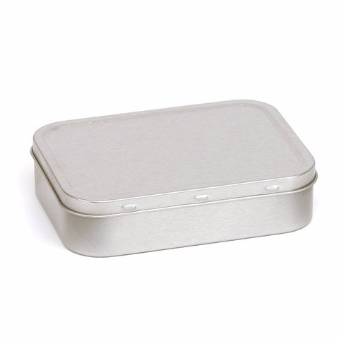 2oz Silver Tobacco Tin With Rubber Seals