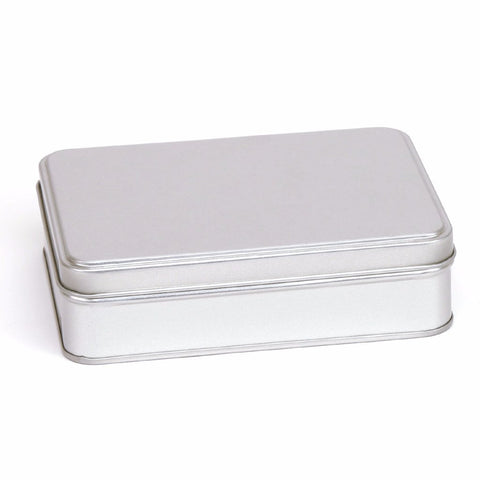300ml Silver Removable Lid Storage Tin