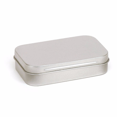 50ml Silver Hinged Storage Tin