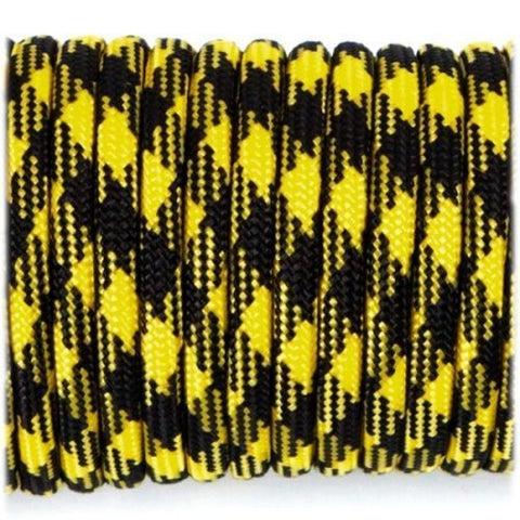 550 USA Made Paracord - Black & Yellow Camo