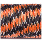 550 USA Made Paracord - Black & Orange Camo