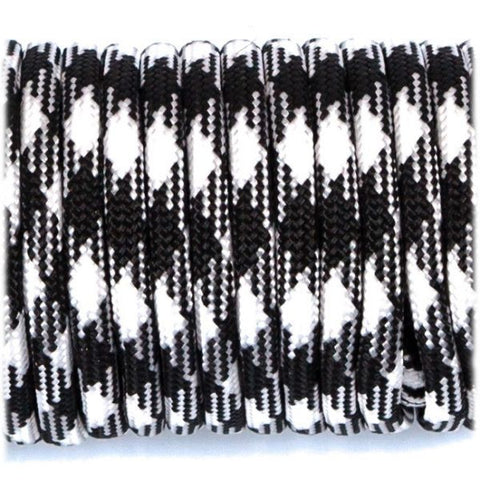 550 USA Made Paracord - Black & White