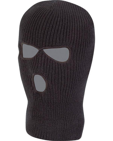 Black 3 Hole Thermal Balaclava