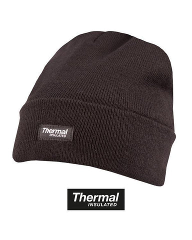 Black Thermal Insulated Beanie Hat